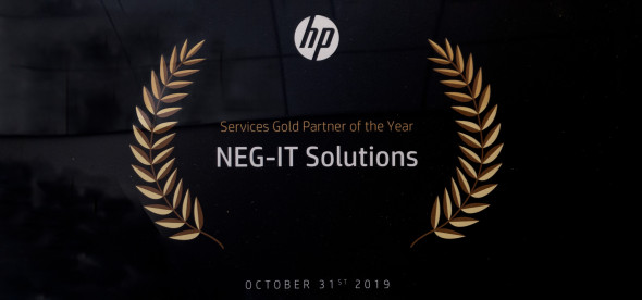 NEG-ITSolutions, HP Gold Services Partner of the Year 2019